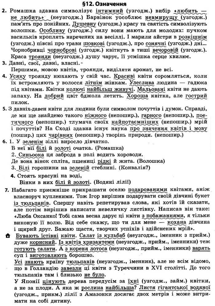 Відповіді до параграфа 12 підручника 8 клас Українська мова Авраменко 2021 рік
