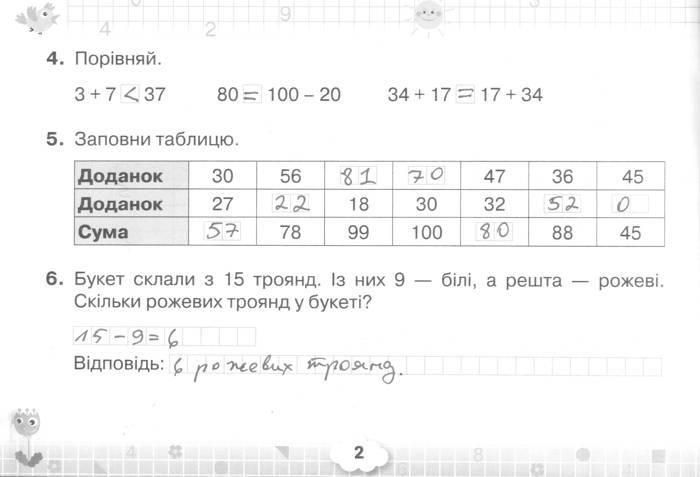 Розв'язання завдань сторінки 2 до посібника 3 клас Математика Листопад 2020 рік (математичний тренажер)