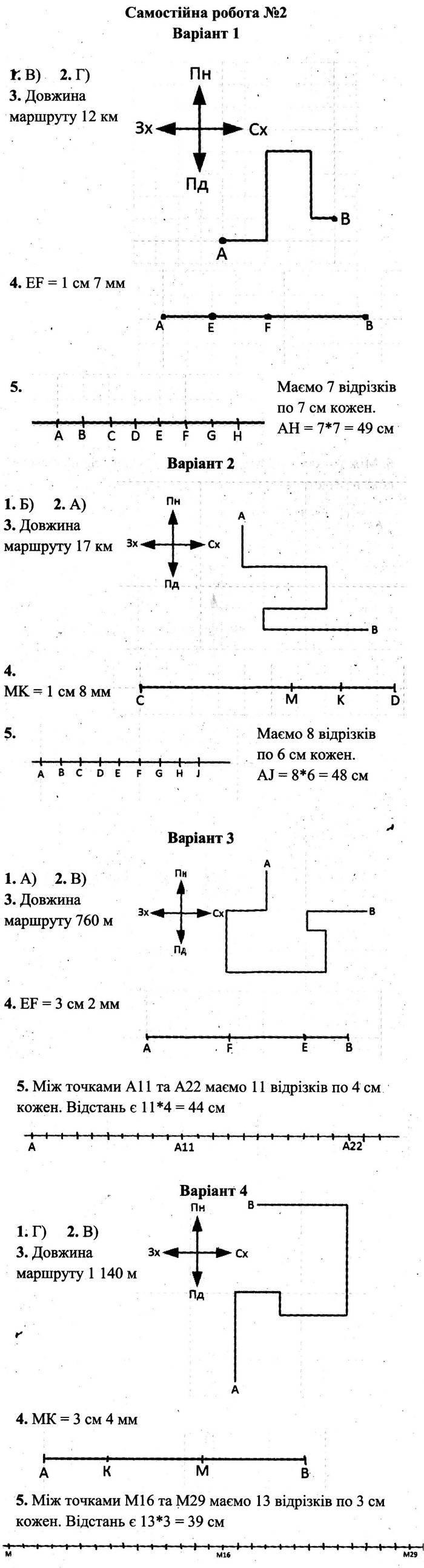 Розв'язання завдань до самостійної роботи 2 посібника 5 клас Математика Мерзляк (збірник самостійних робіт і тестів) 2020 рік
